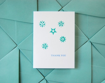 Thank You // letterpress printed greeting card