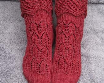 Knit Sock Pattern:  MuckleRow Fancy Cuffed Sock Pattern