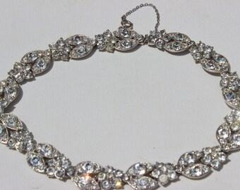 Vintage Strass Halsband Halskette