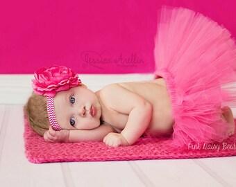Tutu and Headband Set. Pink Tutu Set.  Birthday Tutu Set.  Photo Prop Tutu Set.  Baby Tutu Set.  Newborn Tutu Set. Baby Girl Tutu Set.