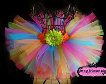 Rainbow Tutu -newborn tutu, toddler tutu, candy land tutu, dress up tutu, birthday tutu, dance tutu, pageant tutu, wedding tutu, TUTU
