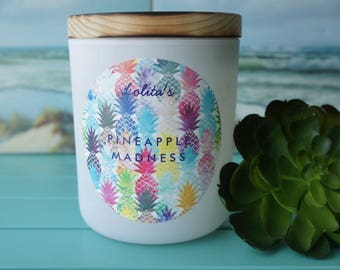 PINEAPPLE MADNESS/Handpoured Scented Soy Candle