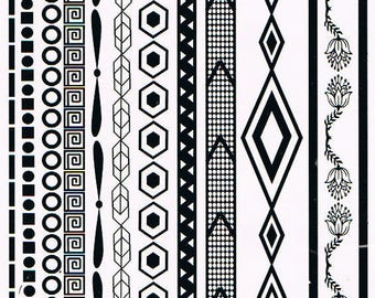 Temporary tattoos Black Lace YHB017 21 X 14.5 CM