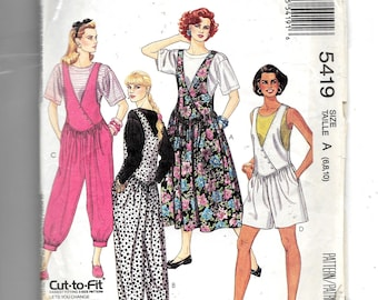 McCall's Misses' Jumper , Jumpsuit In Three Lengths and T-Shirt  Pattern 5419