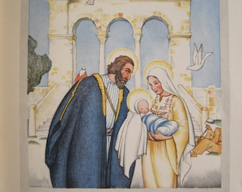 The Christ Child As Told By Matthew and Luke 1931 Printed in Germany Christmas Mary and Jesus