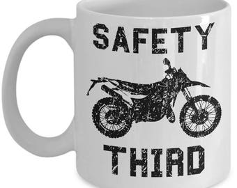 Off Road Mug - Safety Third - Funny Mudding Dirtbike Motocross Gift Coffee Cup