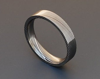 Genuine stainless Damascus Steel Ring PD25