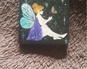 Fairy on canvas magnet