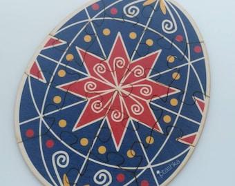 Wooden pysanka puzzle 8x10