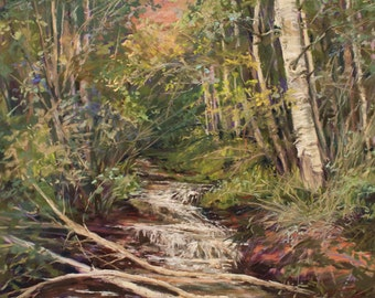 """Pastel Painting Lesson by landscape artist Lindy C Severns  """"An Icy Run Through Aspen"""" Step by Step  Art Class download"""