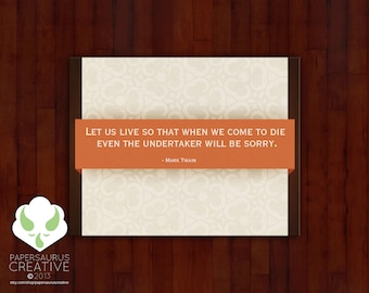 Blank greeting card set: Mark Twain quote cards — set 2
