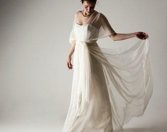 Wedding dress, Boho Wedding dress, Infinity wedding dress, Silk wedding dress, Wedding dress alternative, Grecian wedding dress, simple gown