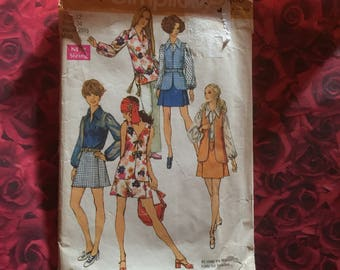 70's Vintage Simplicity Sewing Pattern