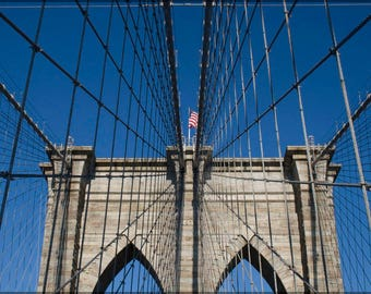Poster, Many Sizes Available; Brooklyn Bridge Detail
