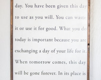 This Is the Beginning of a New Day - Vertical - Wood Sign