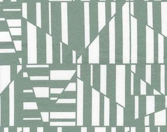 Geometric in Shale- Blake Cotton Knit by Carolyn Friedlander- Robert Kaufman