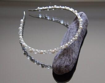 Swarovski Pearl and Crystal Headband / Bridal Tiara / Bridal Hair Accessories / Pearl Bridal Headband / Wedding Headband / Bridesmaid