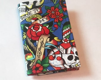 Tattoo Flash wallet, Card holder, business Card Holder, Park Pass Holder, Small Wallet