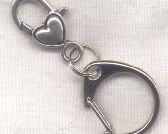 Stitch Marker Holder Keeper With Claw Clasp REGULAR Clip On silver Handy
