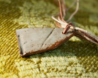 Ghost of Spring 5 - rustic stoneware necklace