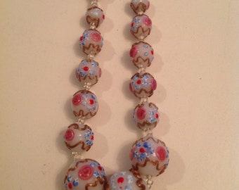 1940s Italian Wedding cake beads Venetian