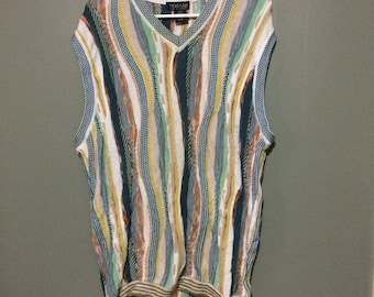 Coogi style pull gilet tosani grande taille