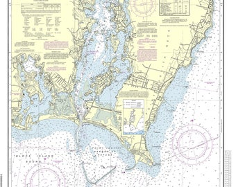 Point Judith Harbor  RI - 2013 Nautical Map by the USCGS - Reprint Harbors 268 - 13219