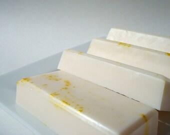 Zitrone-Seife - süße Zitrone Tropfen Seife - Zitrone-Candy-Seife weiße Seife mit leuchtend gelben Splatter Sheabutter Seife hausgemachte Geschenk Seife für Frauen