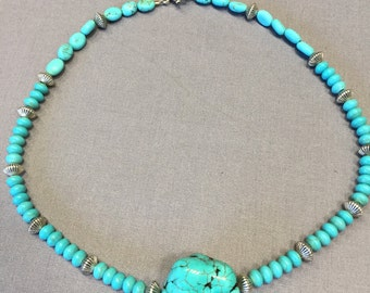 Free Shipping Turquoise necklace.