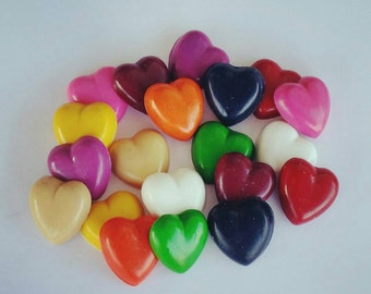 Heart Crayons, Valentines Crayons, Party Favors, Gifts, Valentines Day, Kids Valentine, Class Favors, Candy Alternative, Party Favor, Crayon