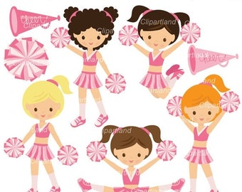 ON SALE INSTANT Download. Cute cheerleader clip art. Cch_17. Personal and commercial use.