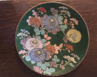 Beautifully painted floral plate old but unsure of makers mark