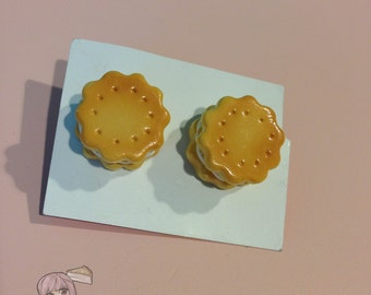 Double Cookie Stud Earrings
