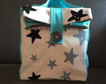 Season clearance - snack bag washable Interior handmade