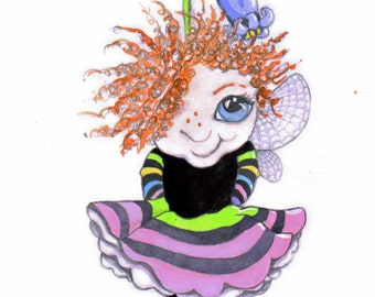 Fairy art watercolour painting art, just for you