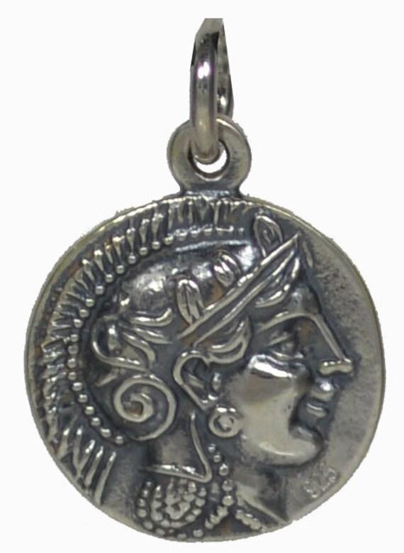 Goddess Athena SIlver 925 Pendant - Owl Of Wisdom