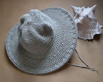 Memorial Day Weekend Vacation Hat, Wide brim Cotton Hat, Linen Hat, Beach Hat, Artisan made Accessories, All Seasonal Womens Hats