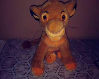 "Vintage Lion King Simba Plush 12"" tall great condition vintage toys"