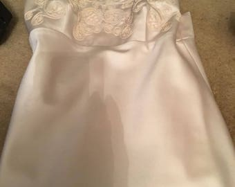 Women's Eleanor Schain Formal Ivory Spaghetti Strap Dress Size S