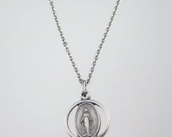 Miraculous Medal Cutout Necklace