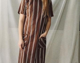 Vintage 1950s striped dress