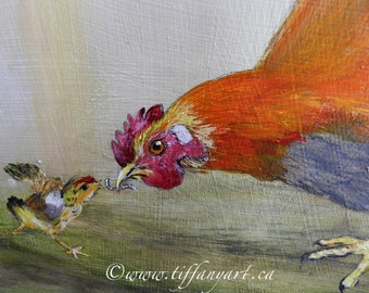 Rooster, Rooster painting, Rooster decor, Rooster art, original Rooster painting, Rooster country decor,hand painted Rooster,farmhouse decor