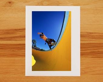 Christian Hosoi Hurricane at the Pink Motel pool - Skateboarding Photograph - Photo Print