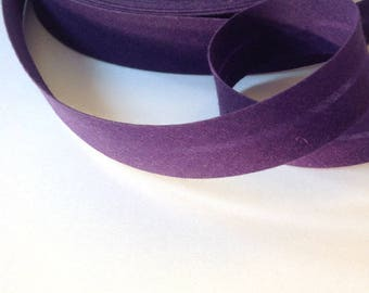 Eggplant Purple folded cotton bias