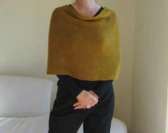 infinity scarf wrap cowl snood 4-in-1 knit in amber