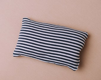 Handmade Navy and white striped newborn photography posing pillow