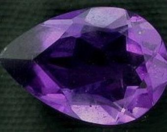 10x7 pear brazilian amethyst gem stone gemstone faceted