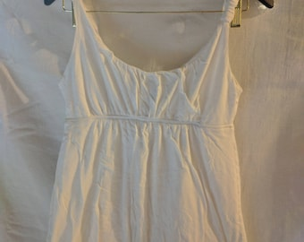 J CREW Camisole Tank White Cotton Jersey size Small Babydoll