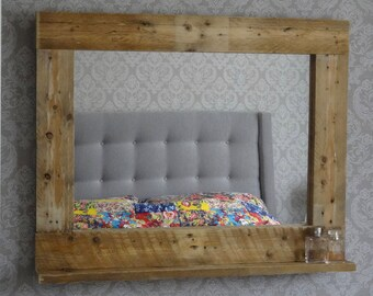 Recycled timber frame and mirror