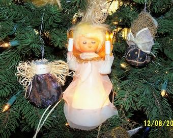 Vintage Angel Tree Topper, Angel Tree Decor, Light Up Angel, Christmas Angel, Made In Japan Angel